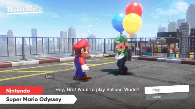 Mario Odyssey's February update will include a new mode: Luigi's Balloon World