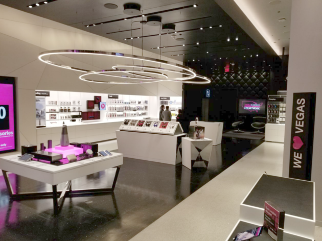 T Mobile Opens Nightclub Esque Retail Store In Las Vegas With