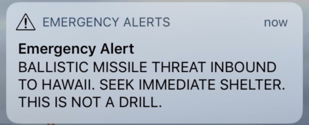 alert in hawaii