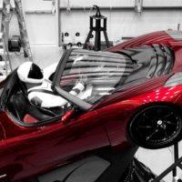 Starman in sports car