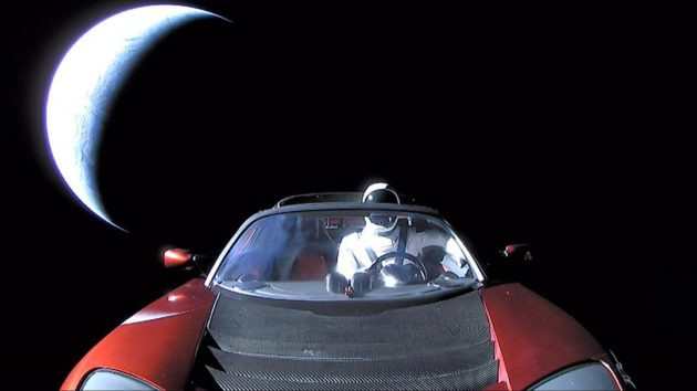 Starman in space Roadster