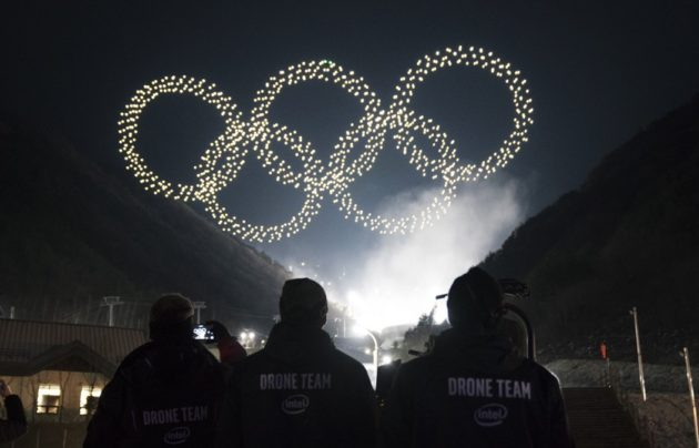 Thousands of Intel drones used for light show during Olympics ceremony