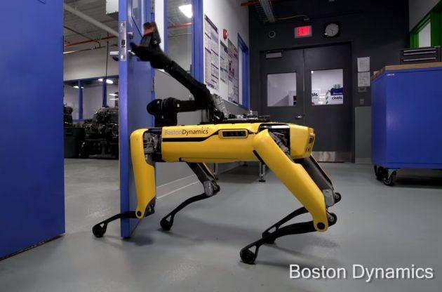 Robot dog is creepiest doorman you have ever seen