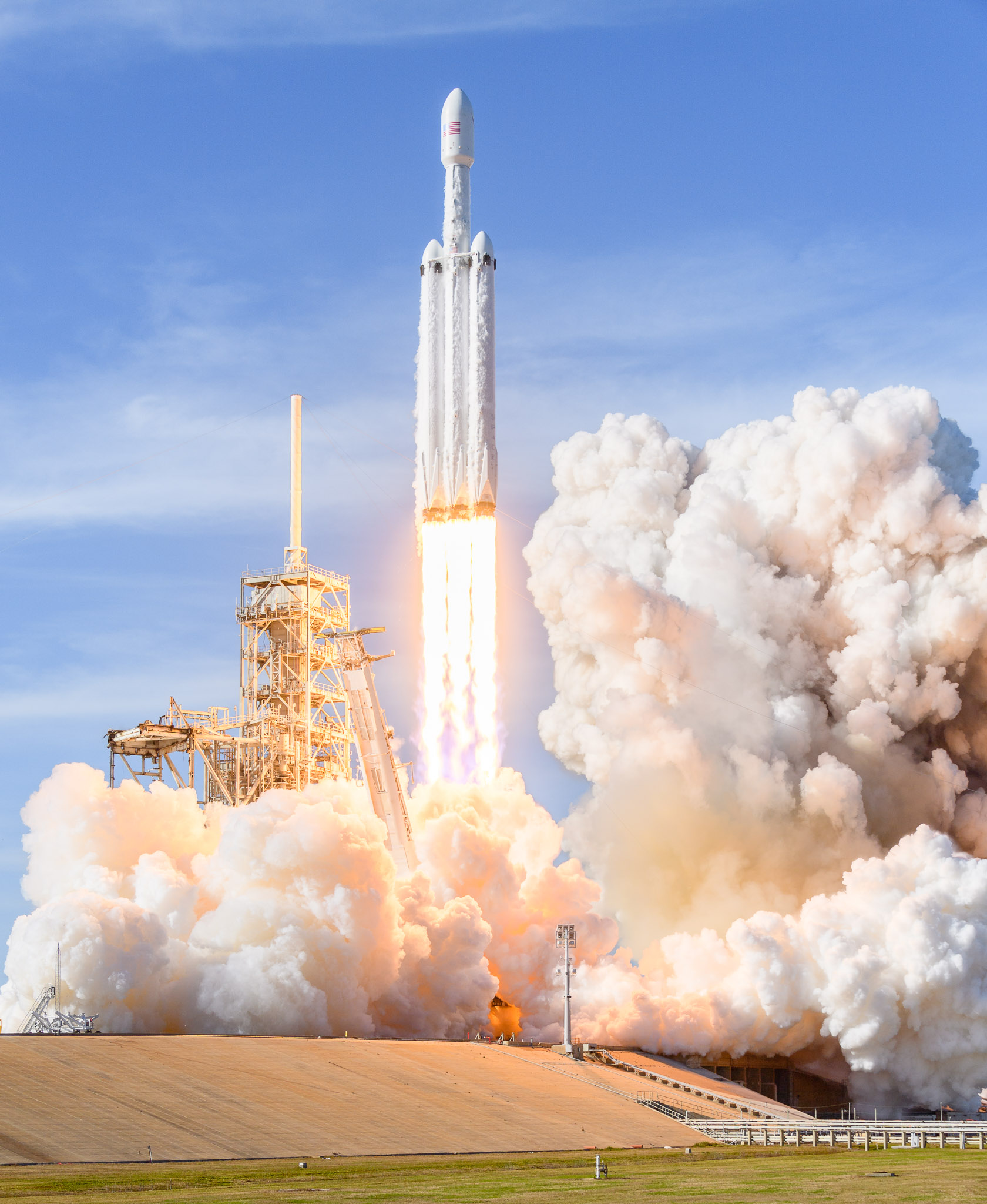 Photos Document The Falcon Heavy Rocket Launch From High