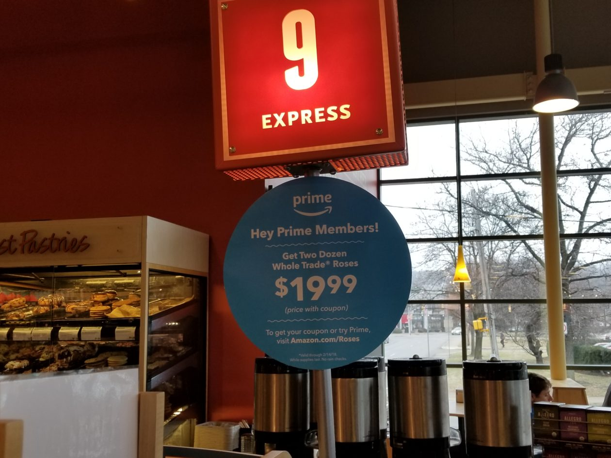 Love — and more Amazon Prime integration — is in the air at Whole Foods with Valentine's roses deal