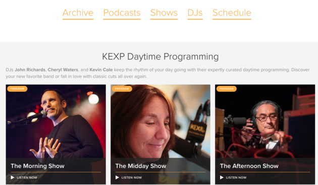 KEXP redesign