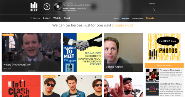 KEXP redesign