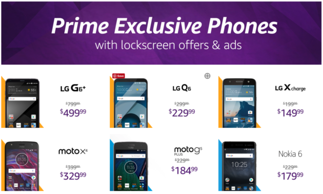 Amazon is removing lock screen ads from its Prime Exclusive Phones