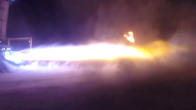 Blue Origin BE-4 firing