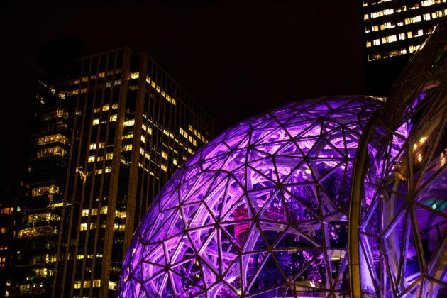 Spheres purple