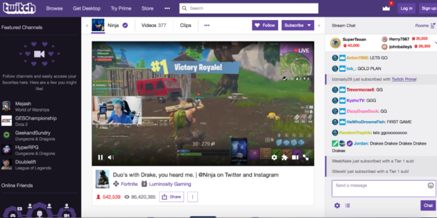 Fortnite Battle Royale Streamer Ninja Fights Alongside Drake on Twitch