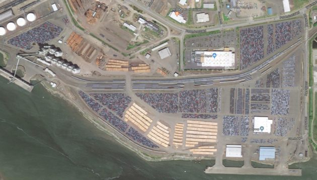 Thousands of diesel VWs await their fate at the port in Aberdeen, Washington