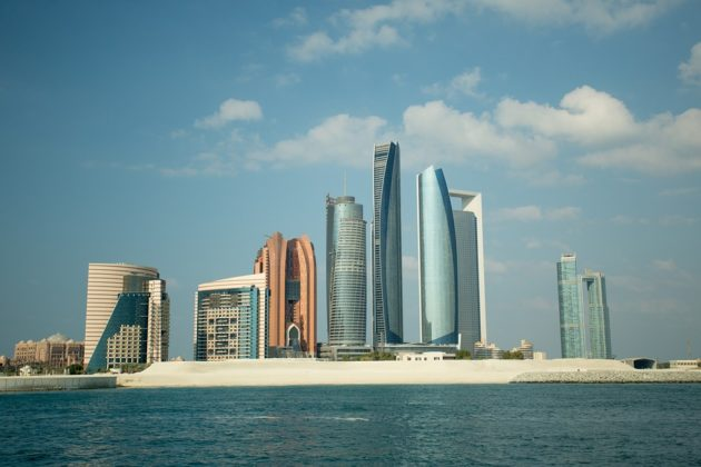 The skyline of Abu Dhabi UAE