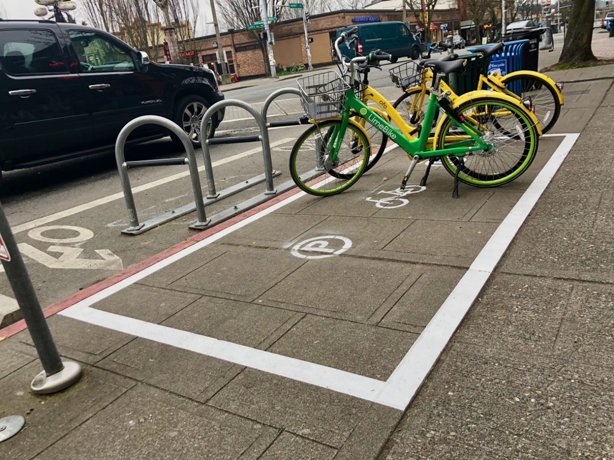 Limited parking spaces cycling as an