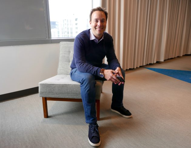 e4667bff954b Spencer Rascoff in his office at Zillow headquarters in downtown Seattle.  (GeekWire Photo   Kurt Schlosser)