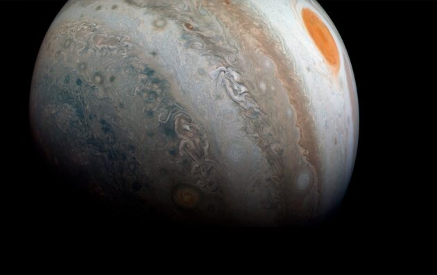 Jupiter as seen by Juno