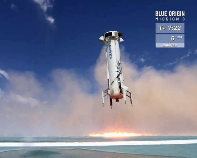 Blue Origin booster touchdown
