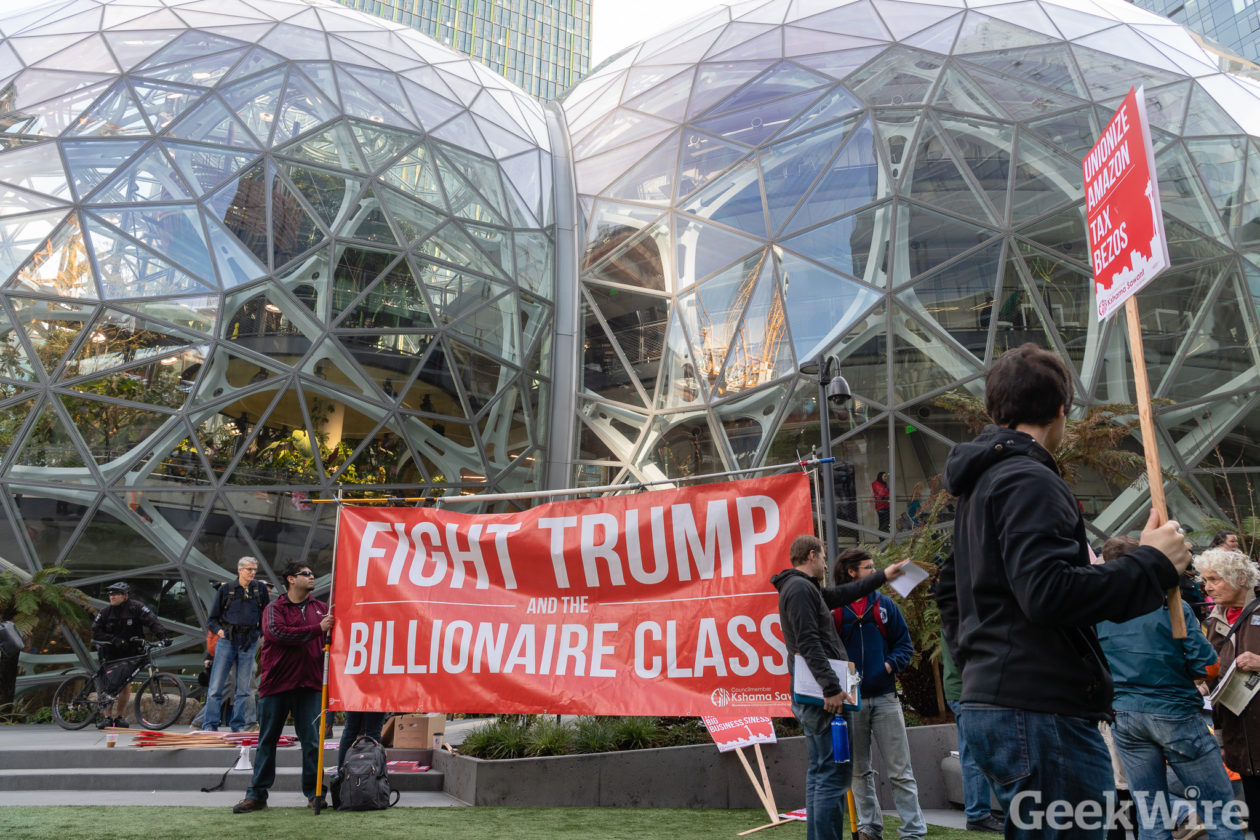Sawant Amazon Protest X