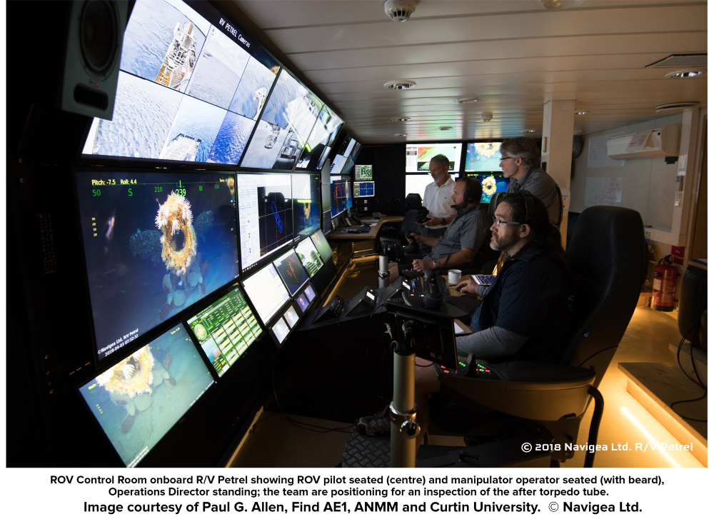 ROV control room on Petrel