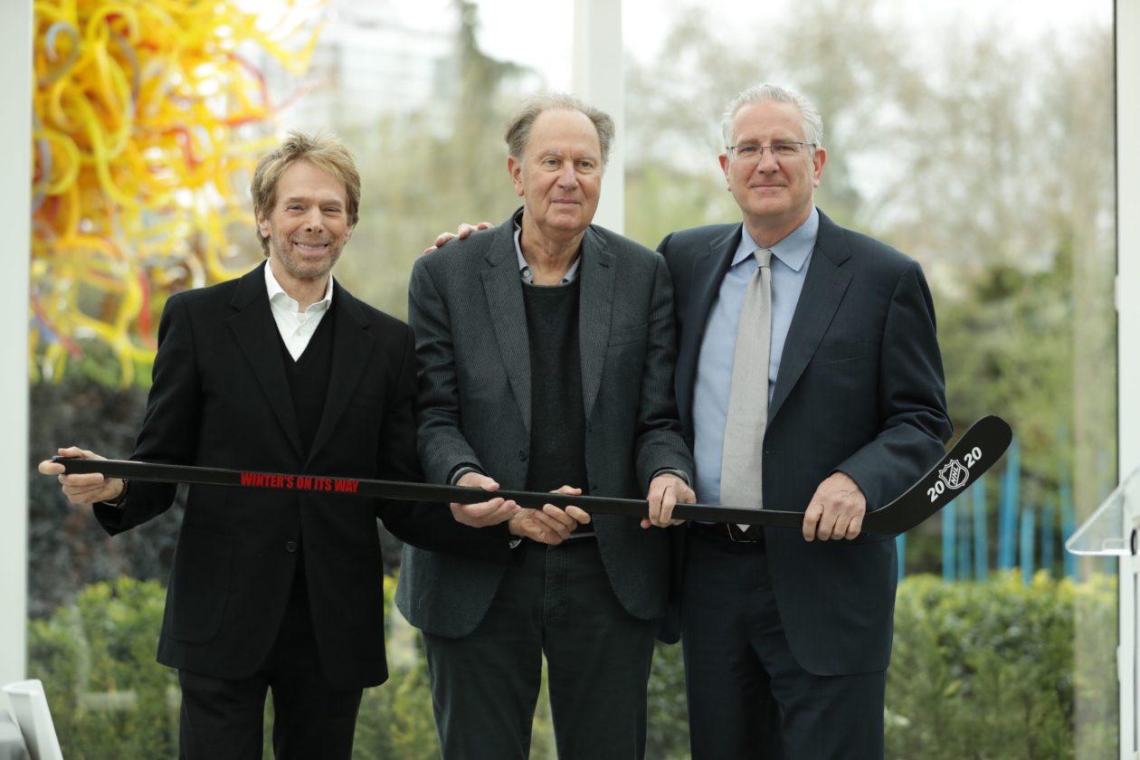 Tod Leiweke,David Bonderman & Jerry Bruckheimer