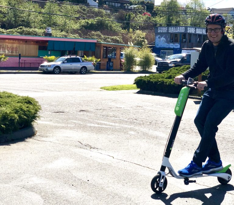 I rode an electric LimeBike around downtown Seattle — and up