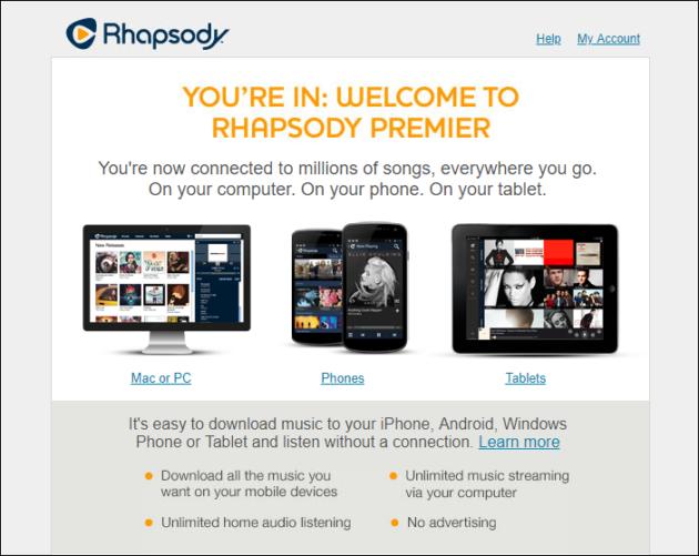 Rhapsody free music