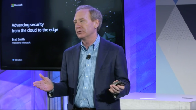 Microsoft President Brad Smith talks about the company's newest security initiatives