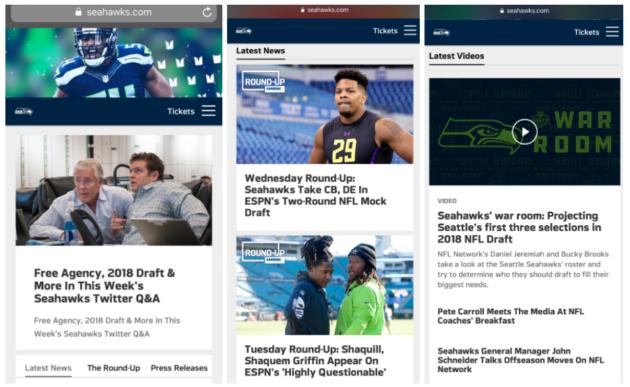 Seahawks website