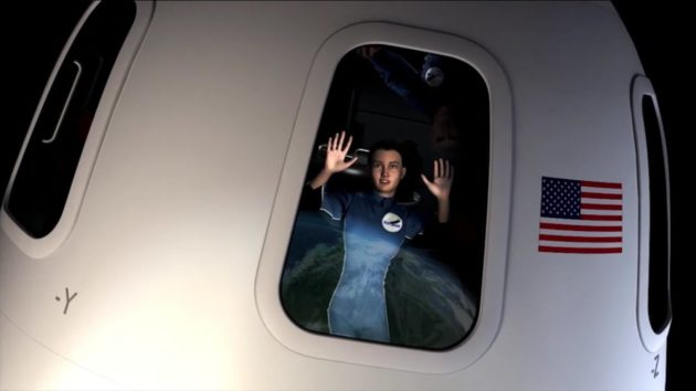 Blue Origin passenger
