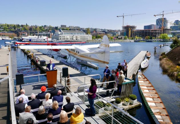 The 'nerd bird' has landed: Tech execs, politicians help kick off Seattle-to-Vancouver seaplane flights