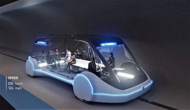 Elon Musk's LA Tunnel System Costs $1 for a 150MPH Loop Ride