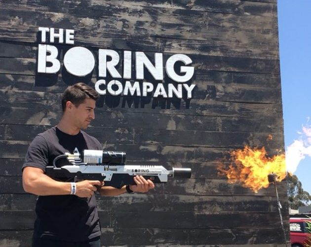 Elon Musk Hosts Flamethrower Party While Tesla Burns