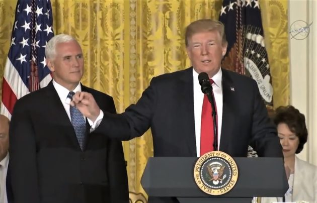 Trump Calls for New Space Force Branch of the Military