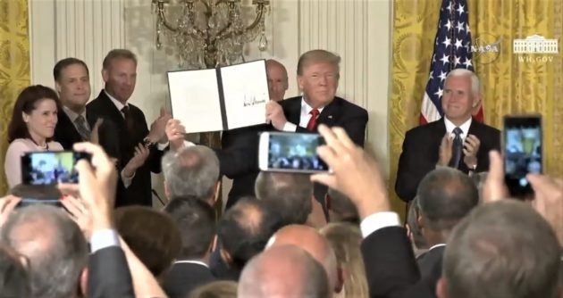Trump signs executive order to establish proposed 'Space Force'