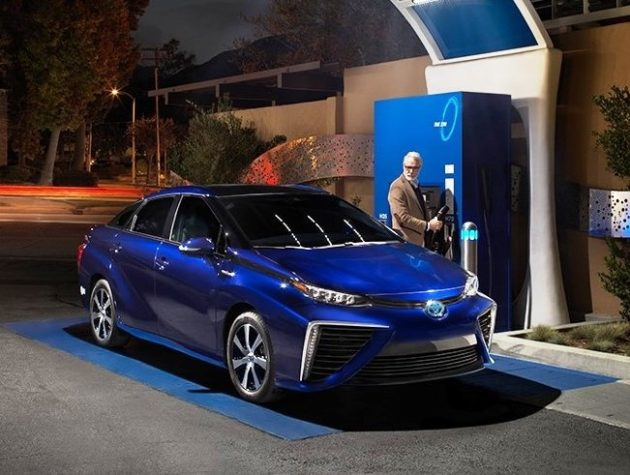 Toyota S Mirai Fuel Cell Sedan Runs On Hydrogen Photo