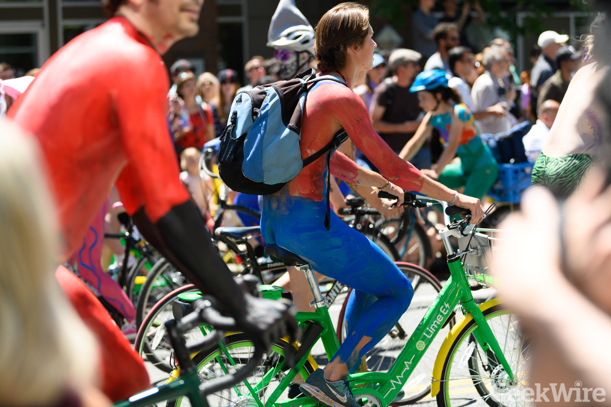 Seattle Fremont Solstice Parade 2015 - Naked Cyclists | Flickr