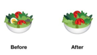 Android salad emoji
