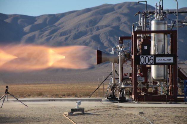 Launch abort engine test