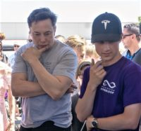Elon Musk and Mitchell Frimodt