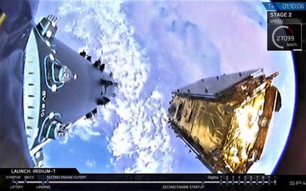 Iridium satellite deployment
