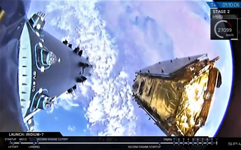 Sonic-boom UFO show! SpaceX launches satellite, lands rocket in