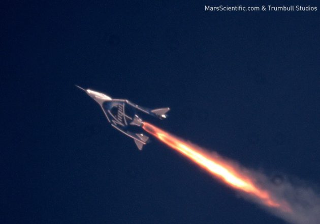 Virgin Galactic space plane leaves stratosphere for first time