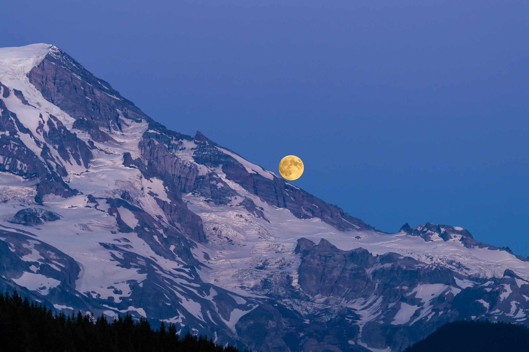 Moonrise Moonset And Mars Photos Hit The High Points At Mount