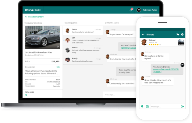 Offerup Launches New Autos Section Focused On Buying And Selling