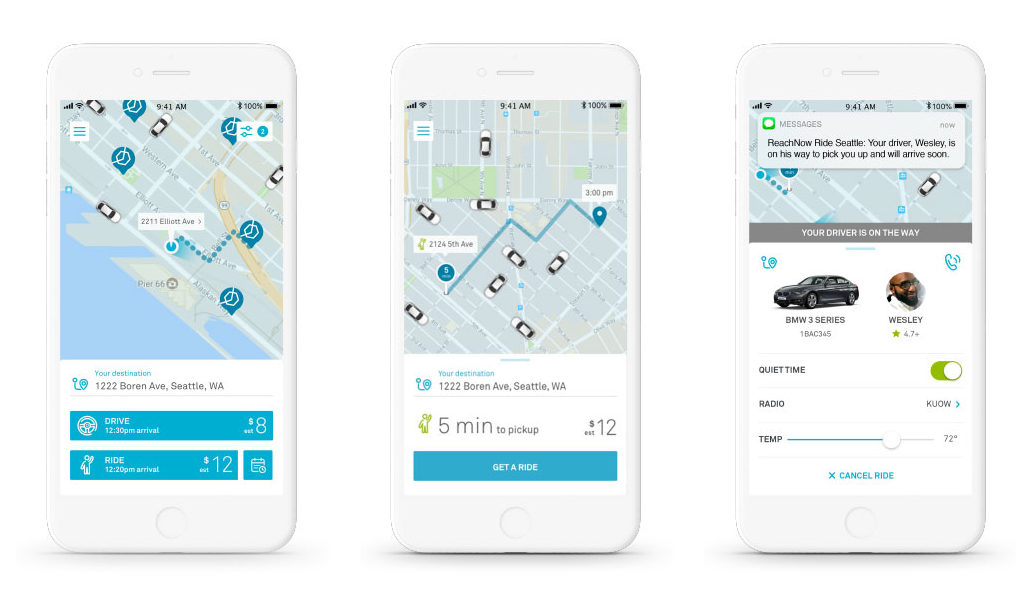 BMW's ReachNow challenges Uber and Lyft, brings car-sharing