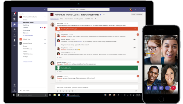Microsoft Teams usage passes Slack in new survey; IT pros expect its presence to double by 2020