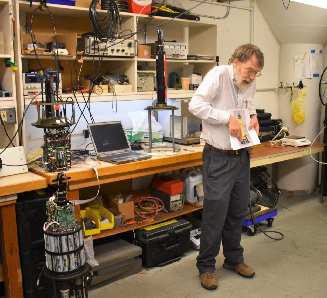 Eric D'Asaro in lab
