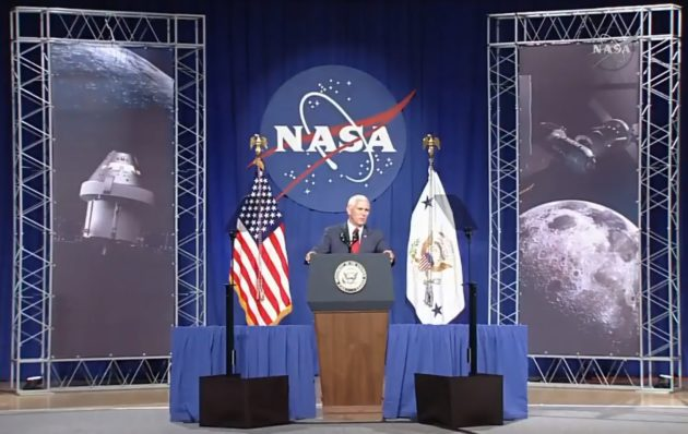 VP Mike Pence at Johnson Space Center