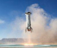 New Shepard booster landing