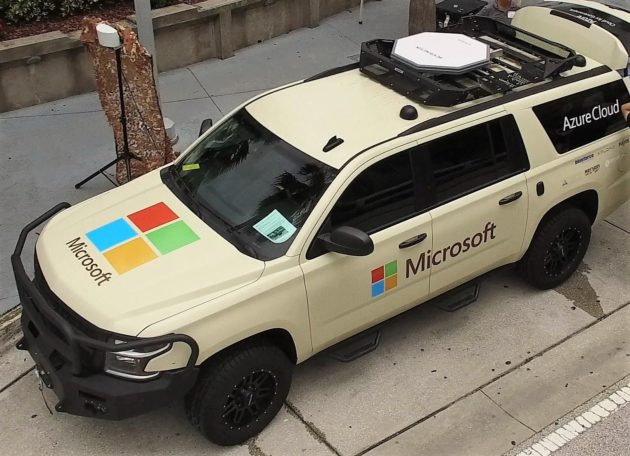 Microsoft tactical vehicle